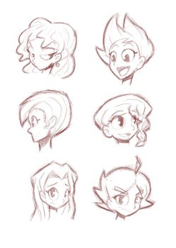 Quick Head Sketches by StaticBlu