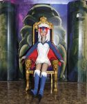 Sorceress on throne by Deltara