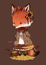 Little Mori Fox Traveling by Maruuki