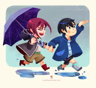 In the rain by rollround