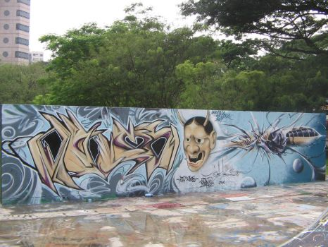 2007:Singapore:wall by Dhos218