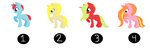 Adoptable ponies 2 points [CLOSED] by kimberley1998