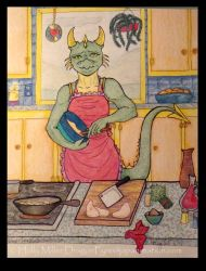 In the Kitchen by medievalgoddess