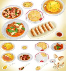 Chinese Food pack MMD download by Hack-Girl