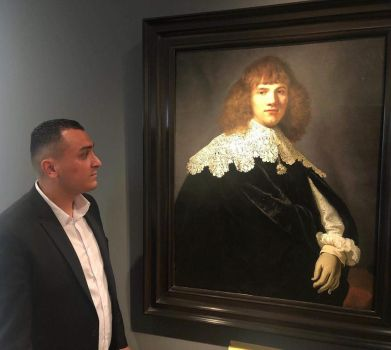 SON IN LAW ON TV WITH NEW DISCOVERED REMBRANDT by IME54-ART
