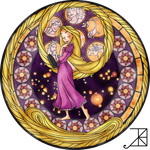 Stained glass - Rapunzel by wearthesun