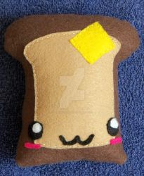 Small Toast Plushie by CatWoman4ever