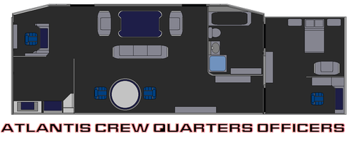 Atlantis Crew Quarters Officers by bagera3005