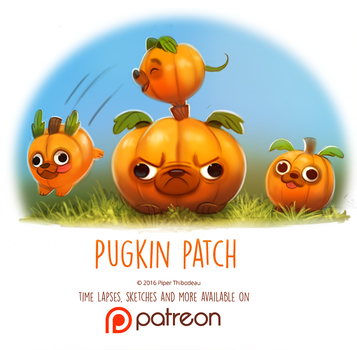 Day 1417. Pugkin Patch by Cryptid-Creations