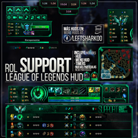 Support League of Legends HUD by LeftLucy