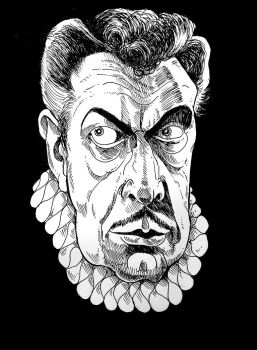 Vincent Price charicature by dwesthorrorcom