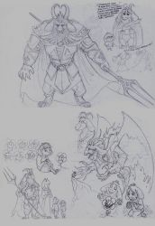 Some scetches - Undertale by FortunataFox