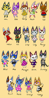 Animal Crossing Cats by KinkoKitty