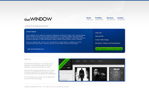 thatWINDOW Simple Blue by slowduck