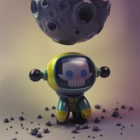 Moonman Urban Vinyl Toy by Wetterschneider