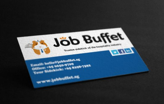 Business Card For Job Buffet by jeffmcc1