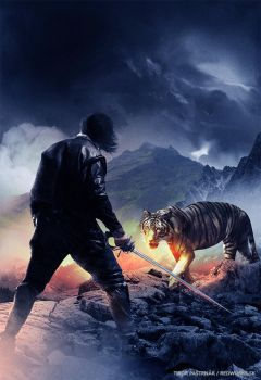Man, steel and a tiger by Redface