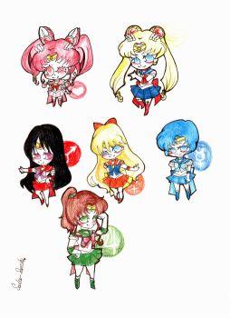 Sailor moon senshi1 Chibi by Clamp101