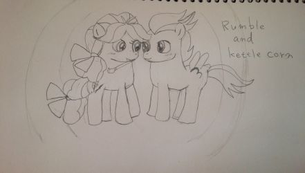 Rumble and Kettle corn Sketch by coconuts777