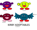 Cheap Kirby adoptables 2!! by SonicLover1523