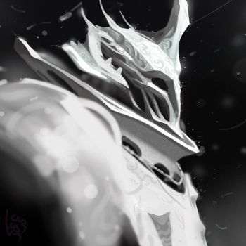 Experimental White Knight character by mohzart