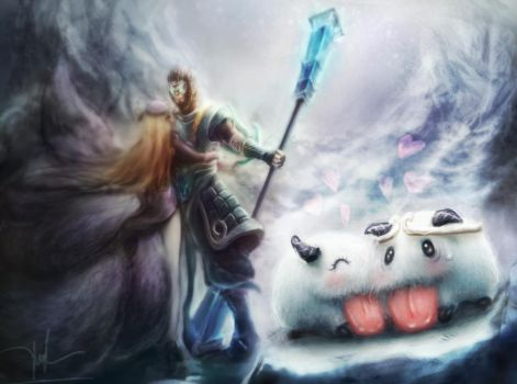 Wukong , Ahri and lovely Poros by Norvice