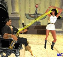Isis Hypnotized To Dance For Black Adam by The-Mind-Controller