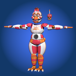Stylized Funtime Chicken (WIP) by Morigandero