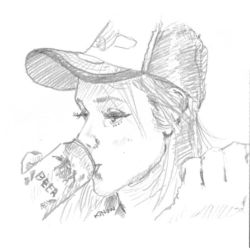 Drinking beer by kinow