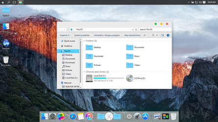Mac OS X El Capitan theme for Win10 by hamed1987s
