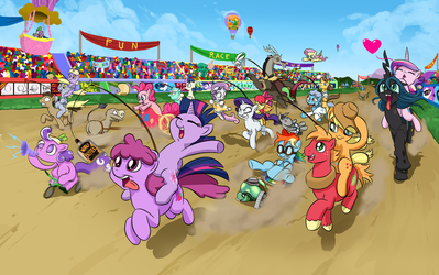 Pony Race Wallpaper by doubleWbrothers