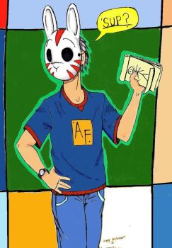 me_by_rabbitmaskedman ,..  colored by chicago-icee by chicago-icee