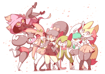 Pokeschool girls by Diives