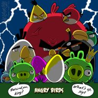 Happy Easter of Angry Birds by NaguX