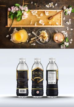 Nectar honey packaging branding by Lemongraphic
