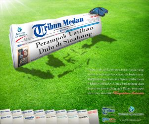 Tribun medan newspaper by MAGOTZCORE