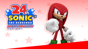Sonic 24th Anniversary Wallpaper - Knuckles - by NuryRush