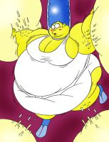 Marge inside Homer by Robot001