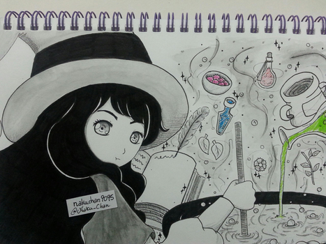 Inktober Day 21 - Potion Brewer by nakuchan9095