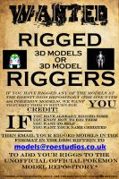 Riggers And Rigged Models Wanted! by TheModerator