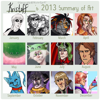 2013 summary of art by TitanCorpse