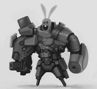 mechanized bunny by p00se2