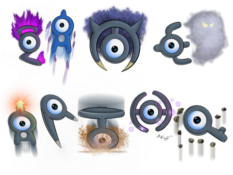 Unown used Hidden Power! by freqrexy
