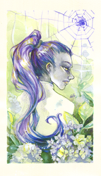 Amelie and hydrangeas by chid0