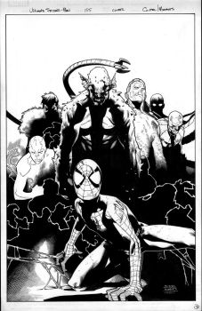 ultimate spiderman 155 cover by MarkMorales