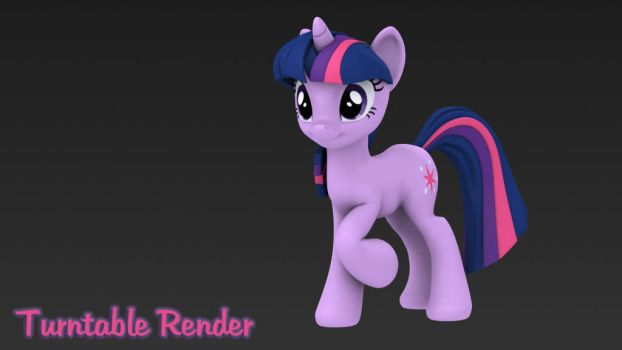 Twilight Sparkle - 3D Turntable Render by Hashbro