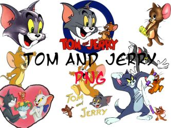 tom and jerry' png by digitallive