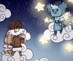 Clouds and Stars by Fuzzy-Draws-BBs