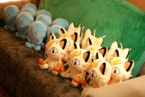 Meowth and Wobbuffet Plush