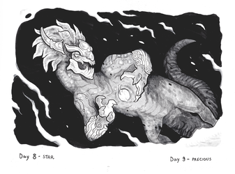 Inktober day 8- Star and day 9-Precious by Sneiks